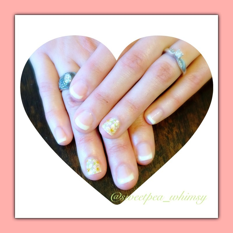 Spring Wedding nail art by SweetPea_Whimsy