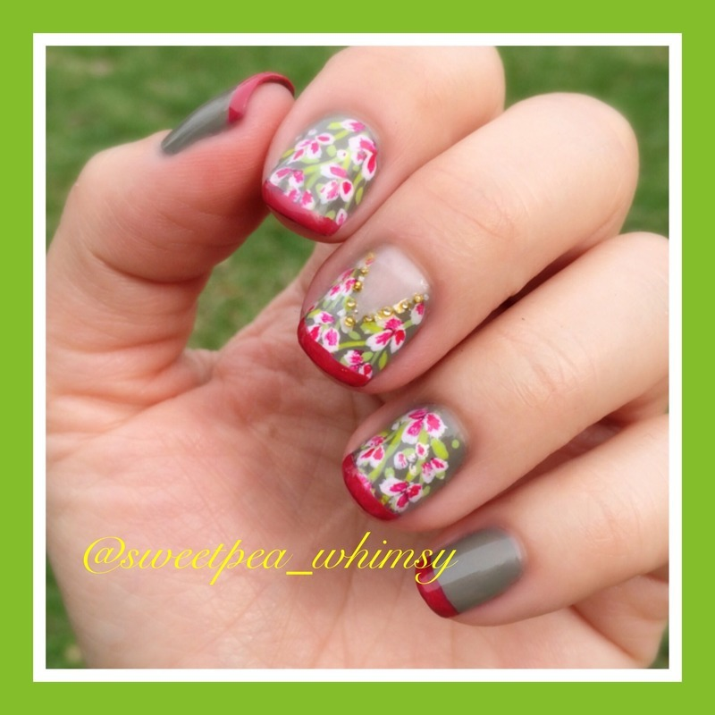 Welcome Spring nail art by SweetPea_Whimsy