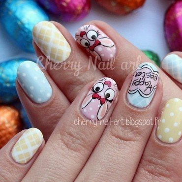 Nail art Paques nail art by Cherry Nail art
