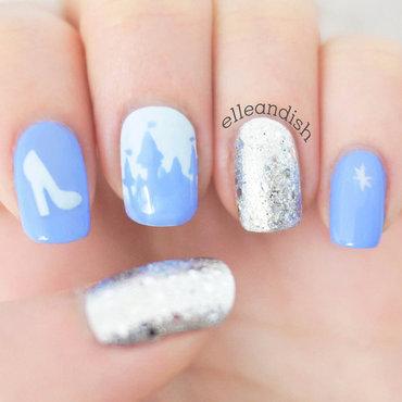 Cinderella Nails nail art by elleandish