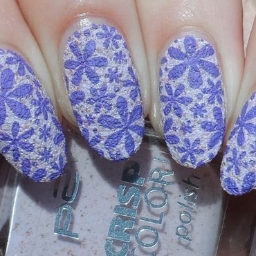 Textured Flower Stamping nail art by Plenty of Colors