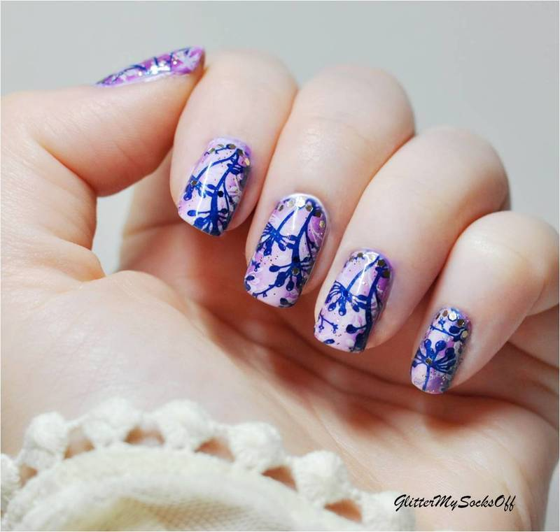 Purple haze  nail art by GlitterMySocksOff