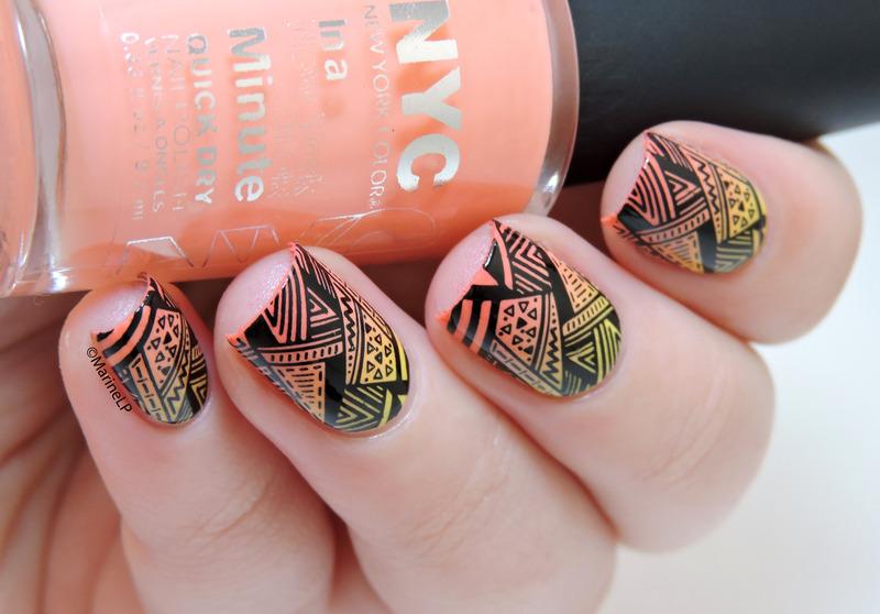 Sunset Aztec nails nail art by Marine Loves Polish - Sunset Aztec Nails Nail Art By Marine Loves Polish - Nailpolis