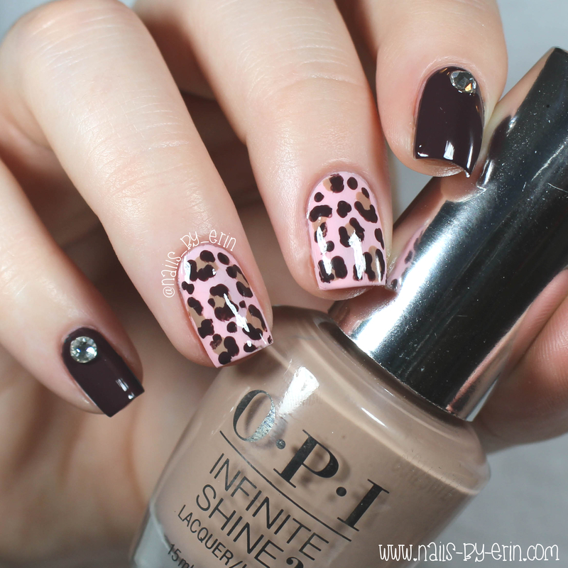 OPI Infinite Shine Leopard Print Nails nail art by Erin - Nailpolis ...