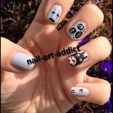 Joyeux Ghibli-versaire Pentagruelle nail art by SowNails