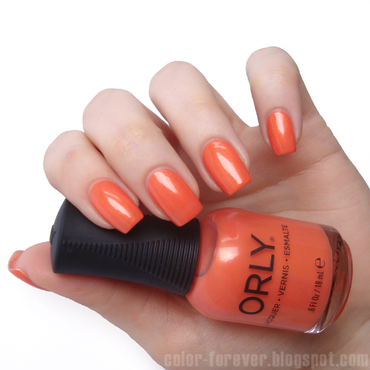 Orly Orange Sorbet Swatch by ania