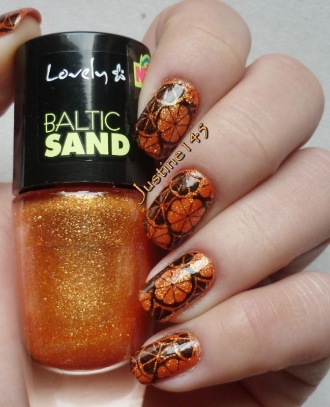 oranges nail art by Justine145