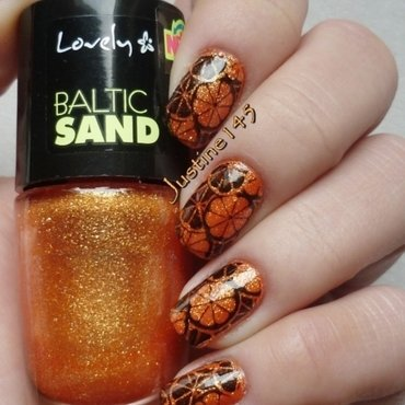 oranges nail art by Justine145