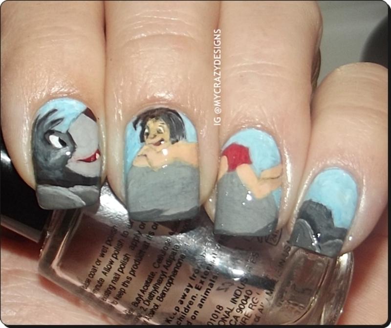 The Jungle Book nails nail art by Mycrazydesigns - Nailpolis: Museum ...