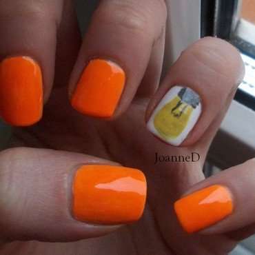 Neon light bulb :) nail art by JoanneD
