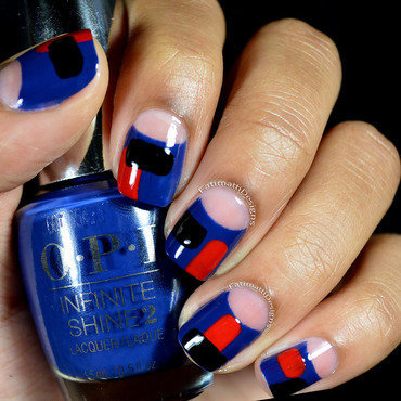 Editorial Colorblock nail art by Fatimah