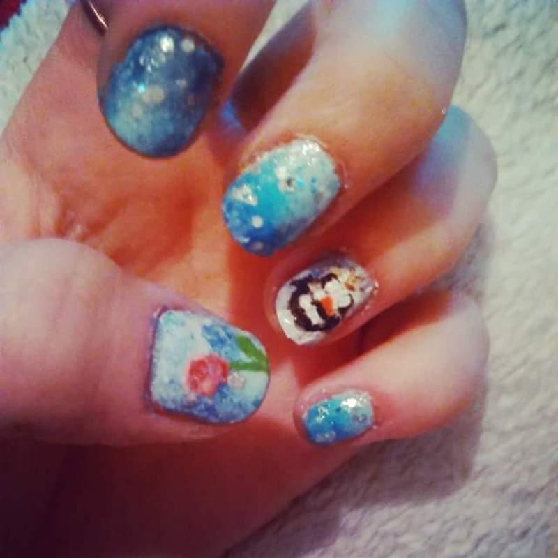 Frozen, Olaf nail design nail art by Mrs Joker - Nailpolis: Museum ...