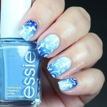 Blue gradient spring  nail art by Blackqueennailsdesign