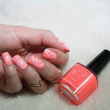 Paisley Stamping nail art by Polishisthenewblack