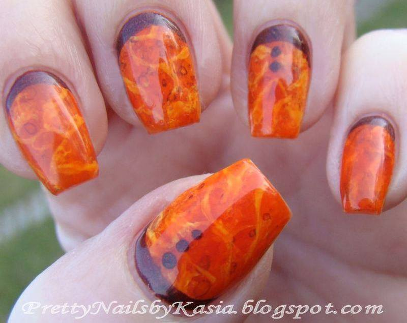 Amber Nails nail art by Pretty Nails by Kasia