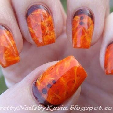 Amber Nails nail art by Pretty Nails by Kasia