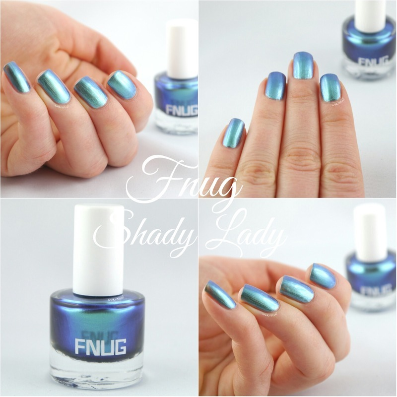 FNUG Shady Lady nail art by Ann-Kristin
