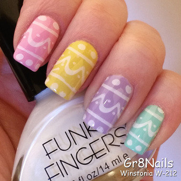 Easter Eggs nail art by Gr8Nails
