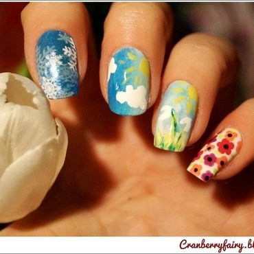 Spring is coming! nail art by Cranberry Fairy