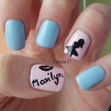 Marilyn Monroe nail art by JoanneD