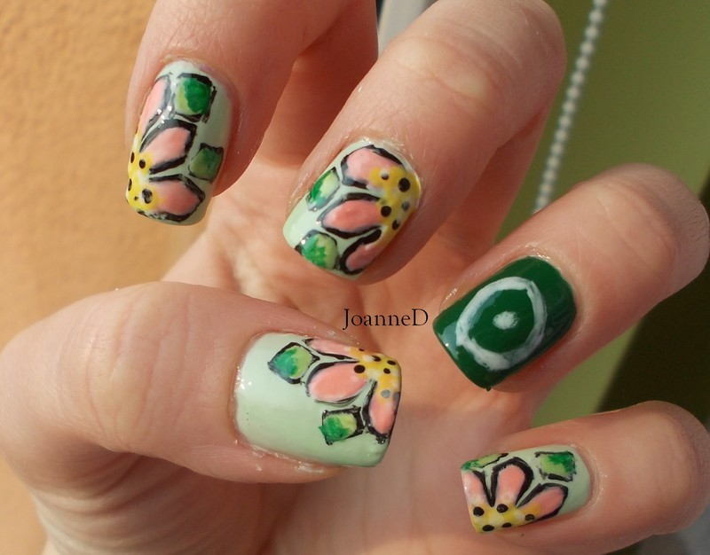Earth nail art by JoanneD