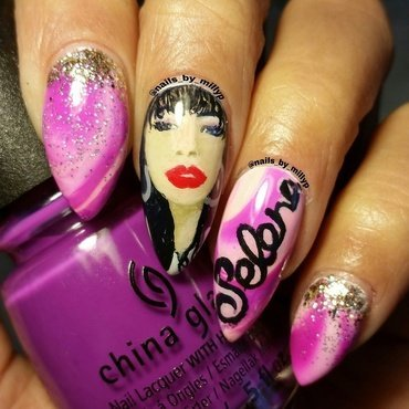 Selena nail art by Milly Palma