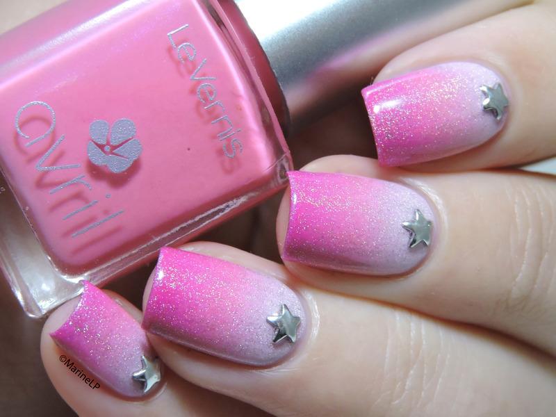 Pink gradient nail art by Marine Loves Polish