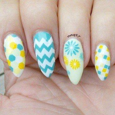Geometric Pastels nail art by Nora (naq57)