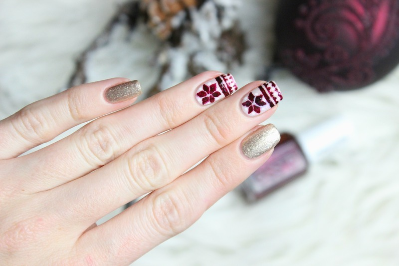 Norwegian style nail art by Jen from polished-with-love