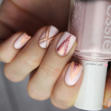 Pastell Geometry nail art by Jen from polished-with-love