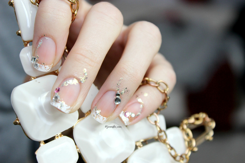 Lace and ornaments nail art by Jen from polished-with-love