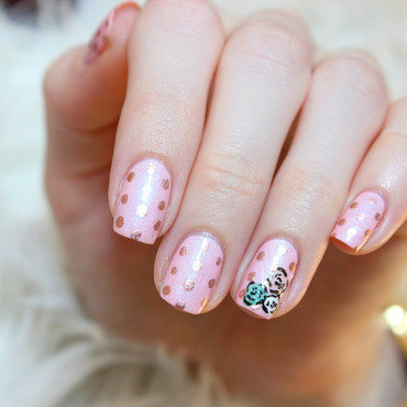 Just stitched with dots nail art by Jen from polished-with-love