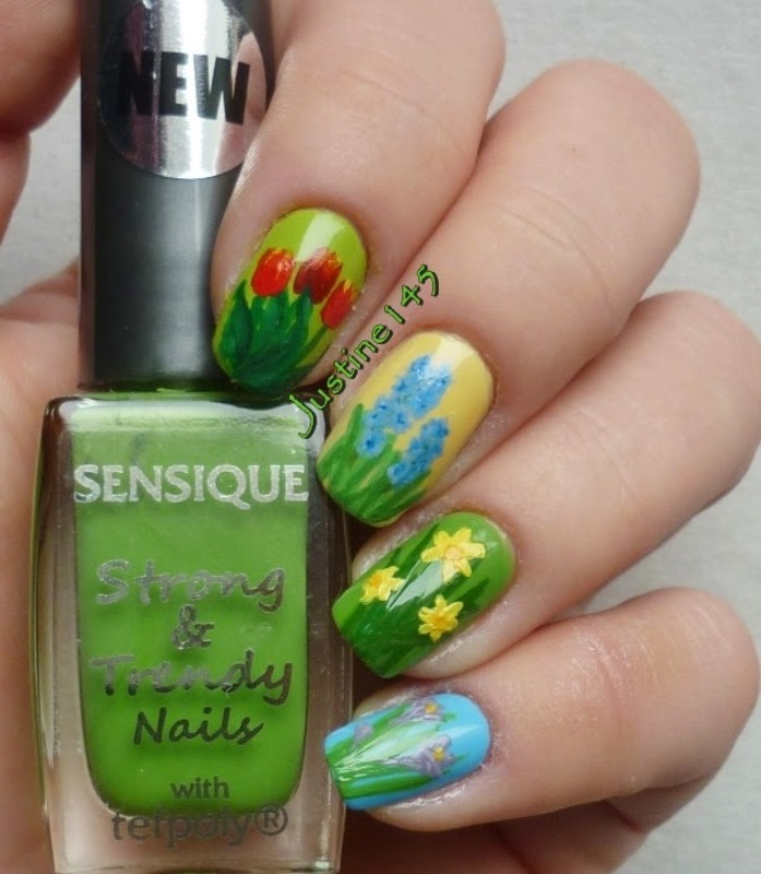 spring garden nail art by Justine145