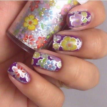 Spring flowers nail art by anas_manis