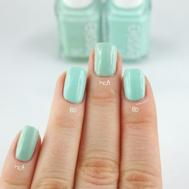 Essie Mint Candy Apple and Essie Blossom Dandy Swatch by Ann-Kristin