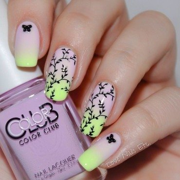 Spring flower Pastel  nail art by Love Nails Etc