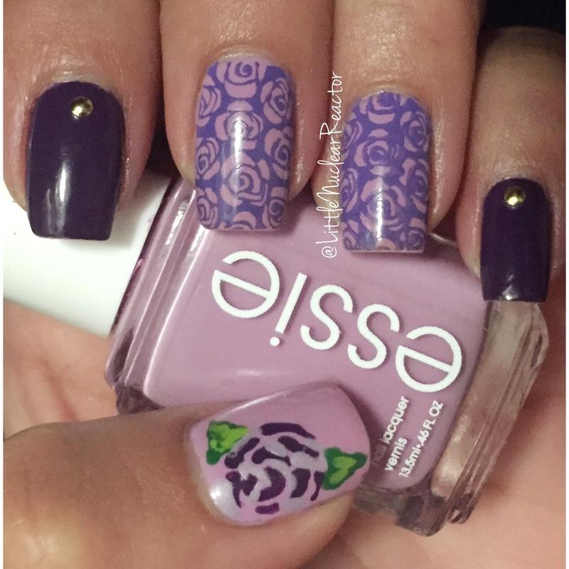 Purple Floral nail art by LittleNuclearReactor