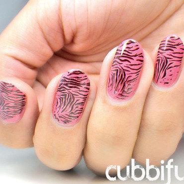 Pink zebra nails thumb370f