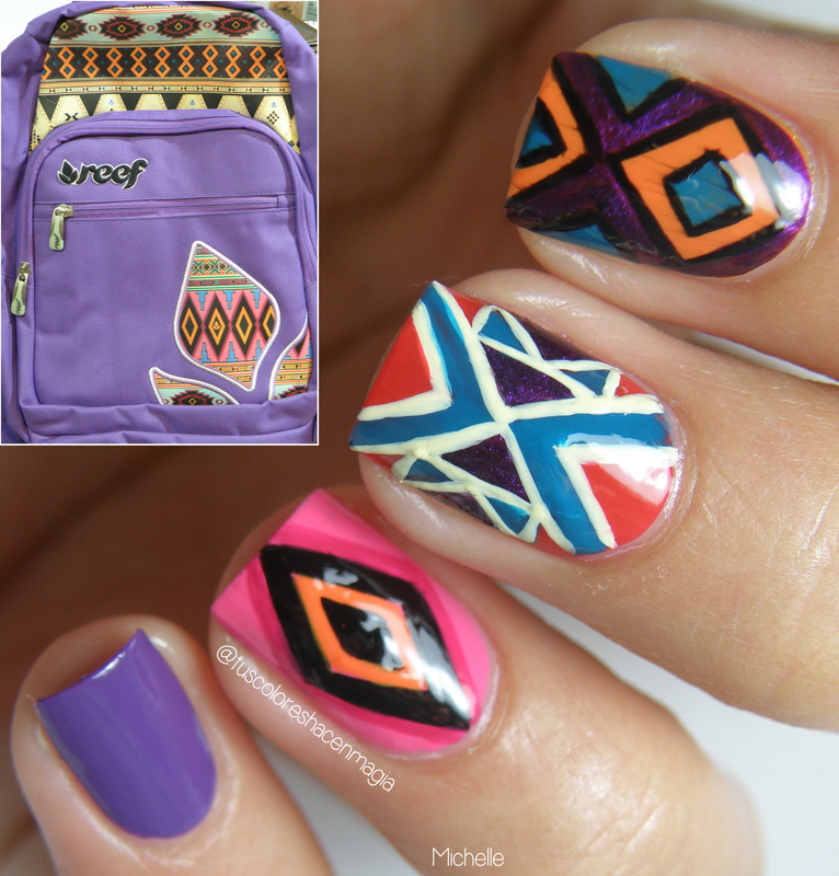 Inspired by Reef nail art by Michelle Mullett