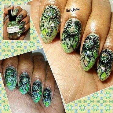 Green Springin nail art by Nails_Divine