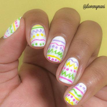 Easter egg mani! nail art by Gabrielle