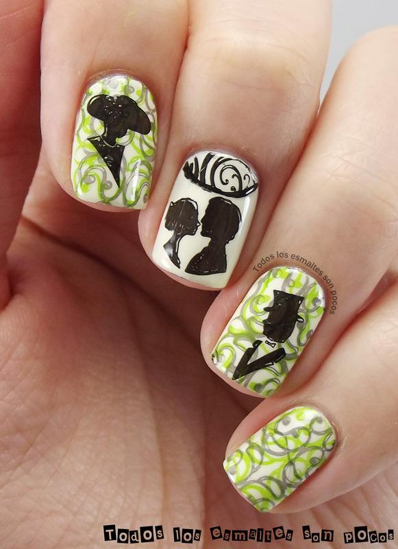 Classic love nail art by Maria