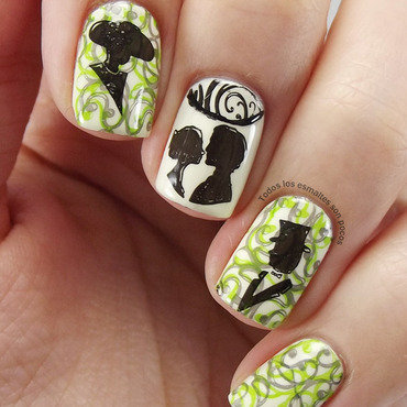 Classic love nail art by Maria