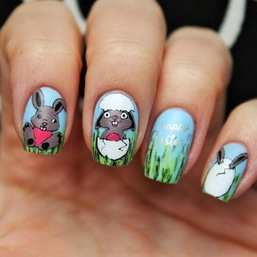 Happy Easter! nail art by Jane
