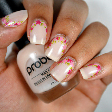 Elegant Ruffian Flowers nail art by Fatimah