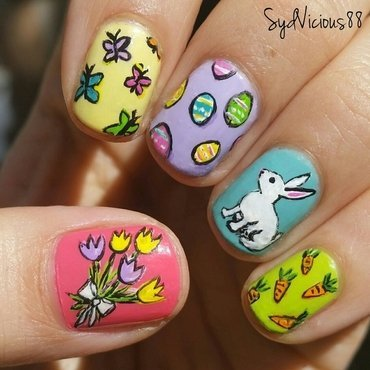 Easter nail art by SydVicious