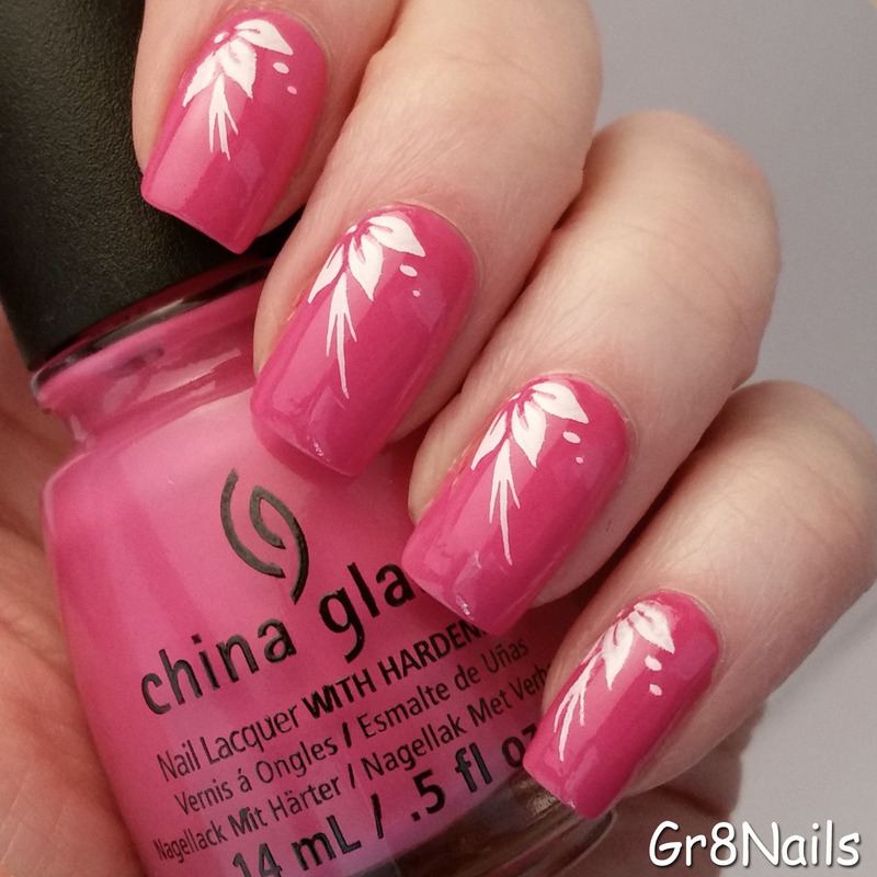 Simple Stamping nail art by Gr8Nails