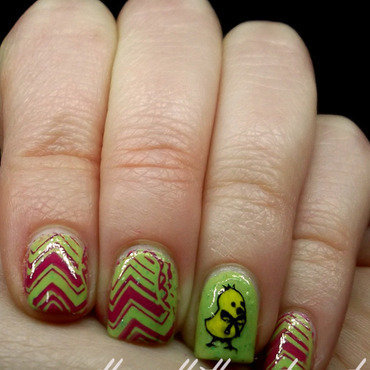 Easter Chick nail art by The Call of Beauty