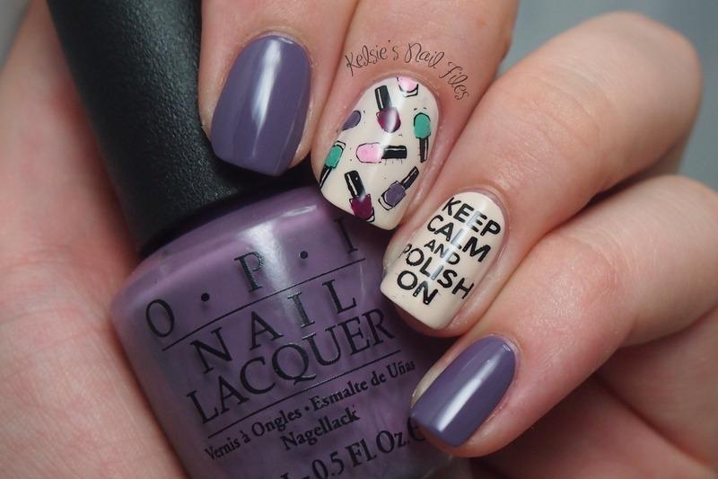 Keep Calm & Polish On nail art by Kelsie