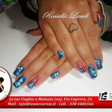 usa nail art by Rossella Landi
